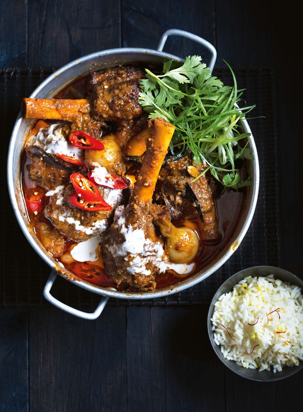 Indian Lime Pickle Lamb Shanks